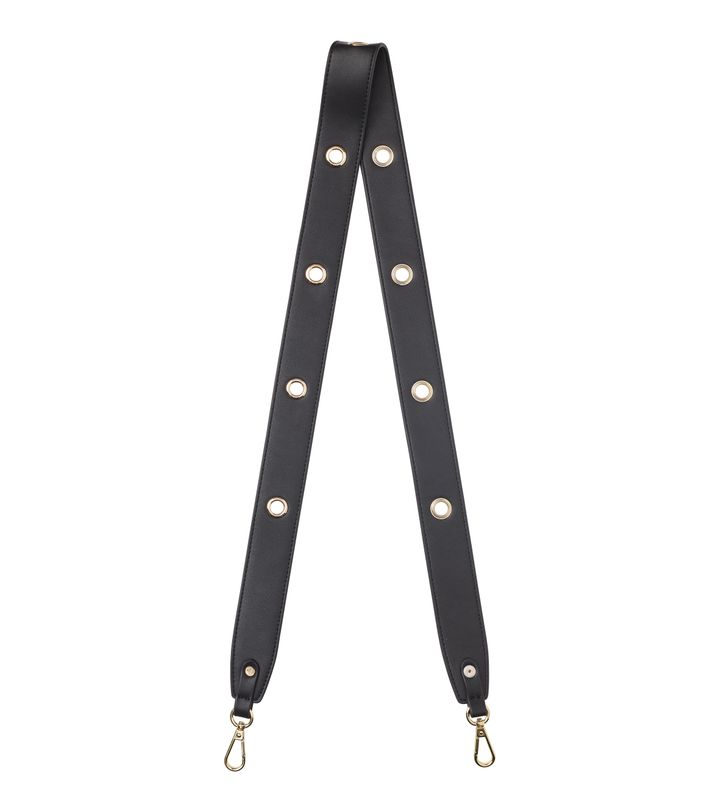 Amy Eyelet Strap Black/Gold