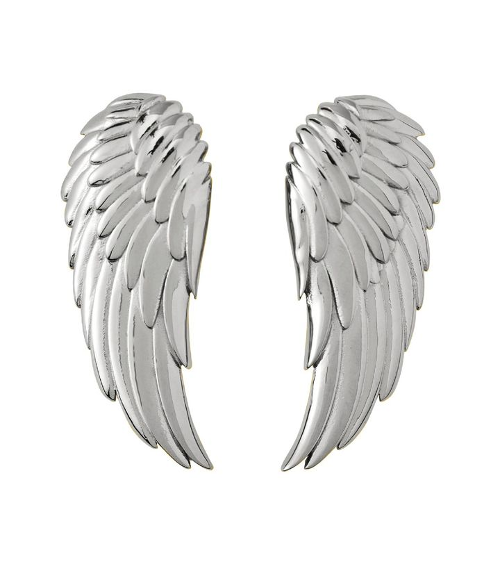Angel Earrings Large Steel