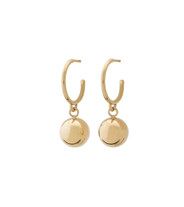 Atom Earrings Gold