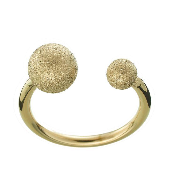 Atom Glittering Ring Gold