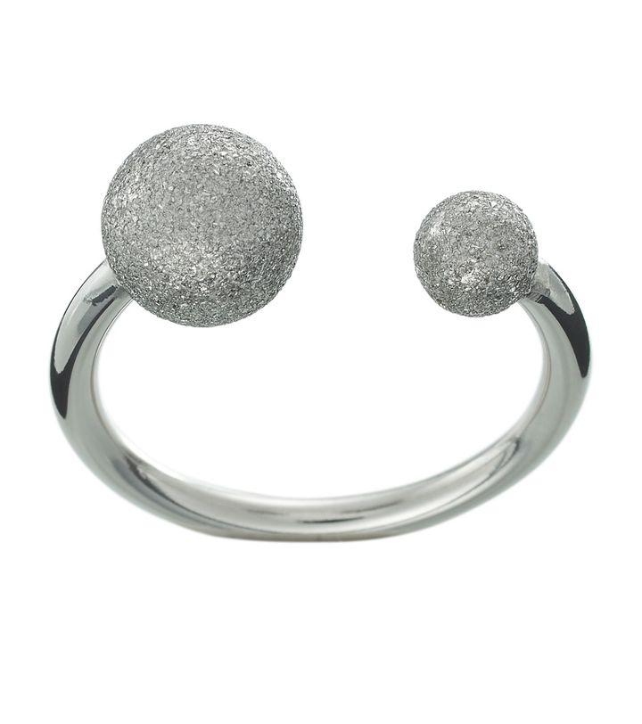 Atom Glittering Ring Steel