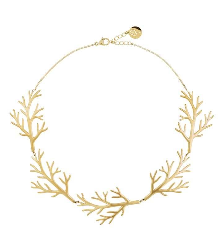 Branch Necklace Matt Gold