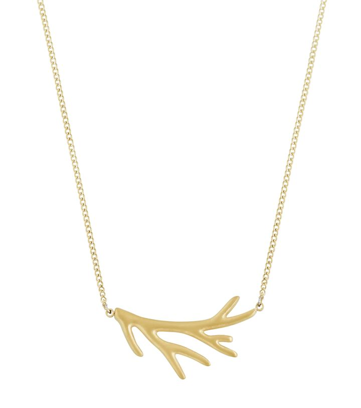 Branch Necklace Short Matt Gold