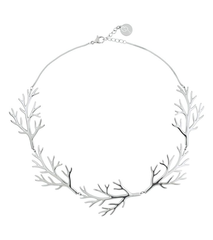 Branch Necklace Steel