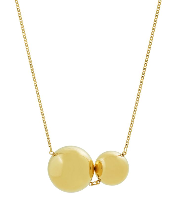 Bubbles Necklace Long Gold