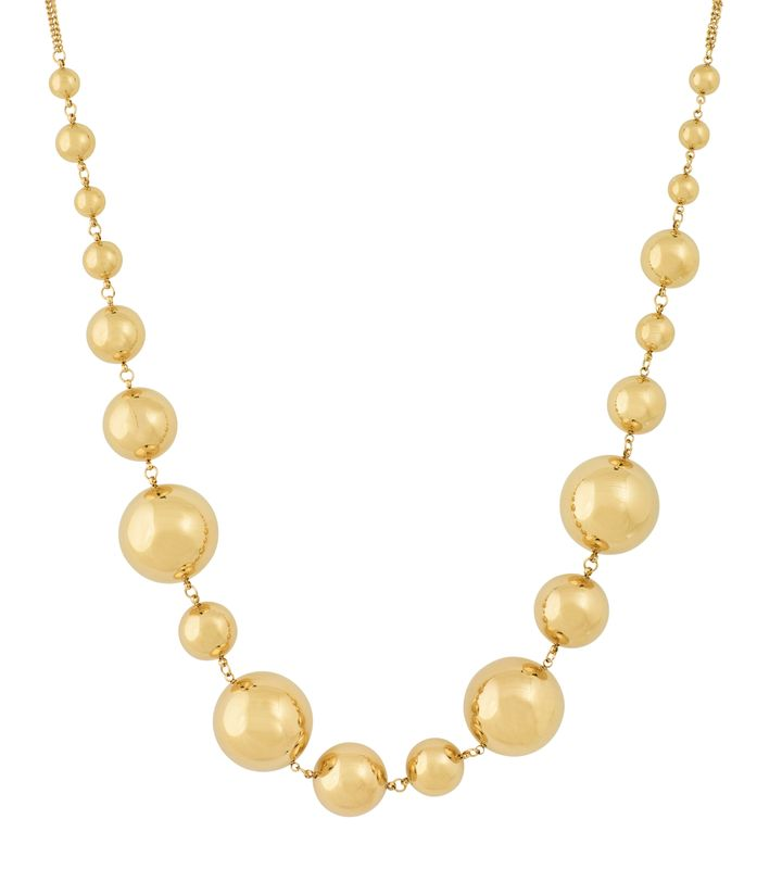 Bubbles Necklace Multi Gold