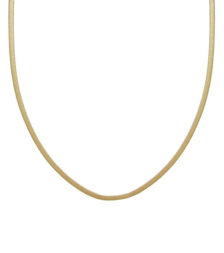 Chain Herringbone 80 cm Gold