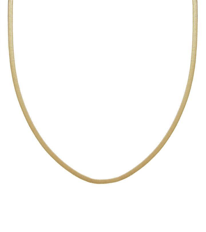 Chain Herringbone 80 cm Gold