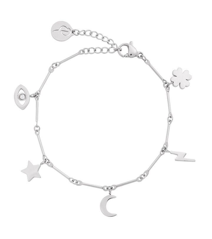 Charm Bracelet Multi Steel