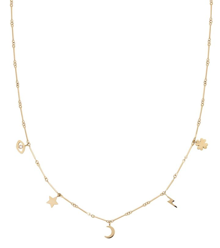 Charm Necklace Multi Gold