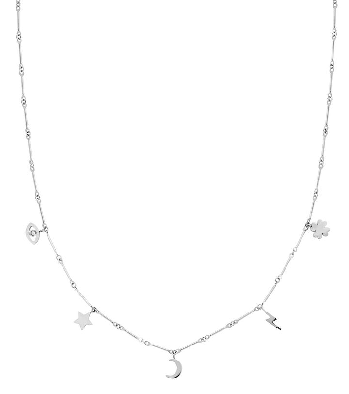 Charm Necklace Multi Steel