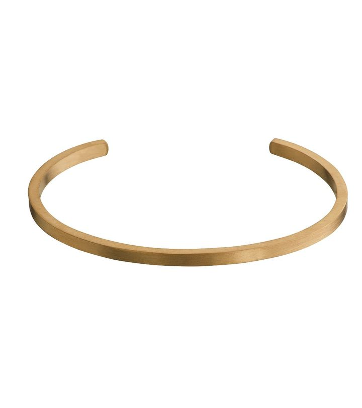 Circle Bangle Matt Gold