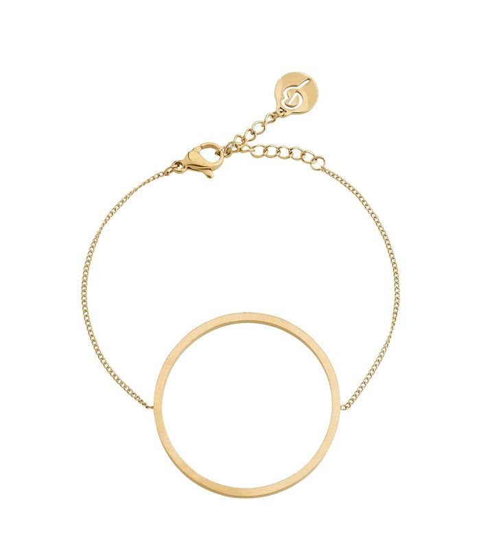 Circle Bracelet Matt Gold