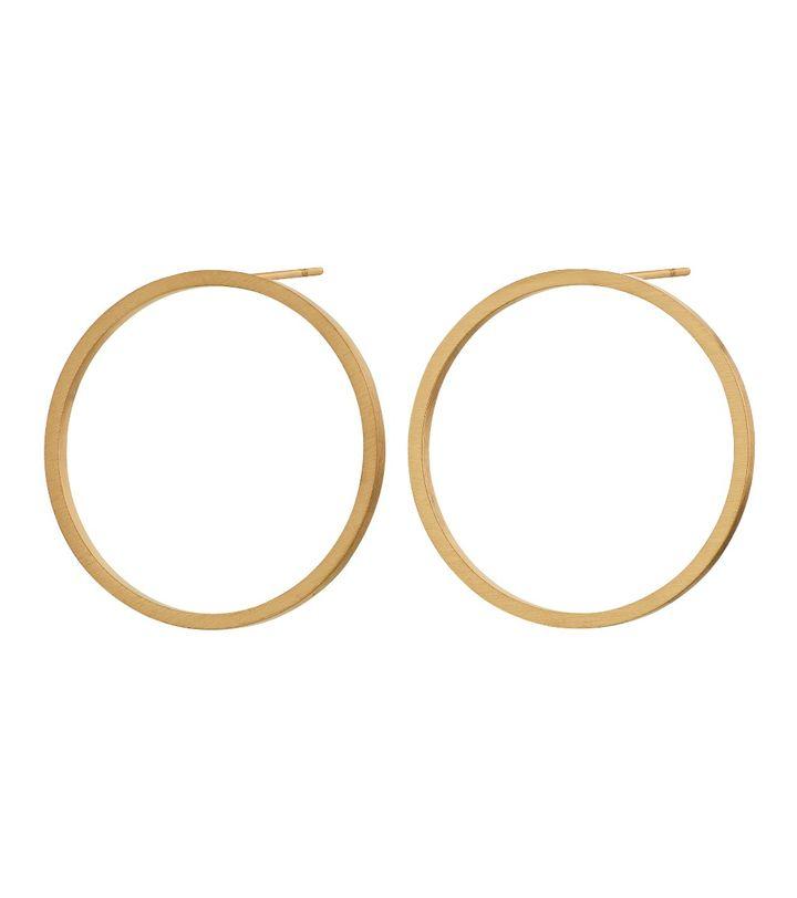 Circle Earrings Matt Gold