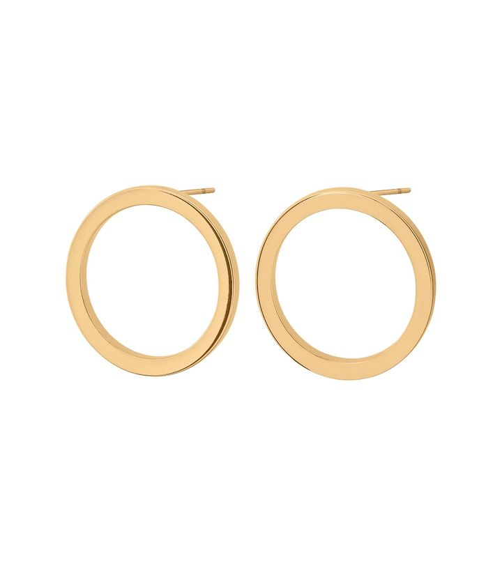 Circle Earrings Small Gold