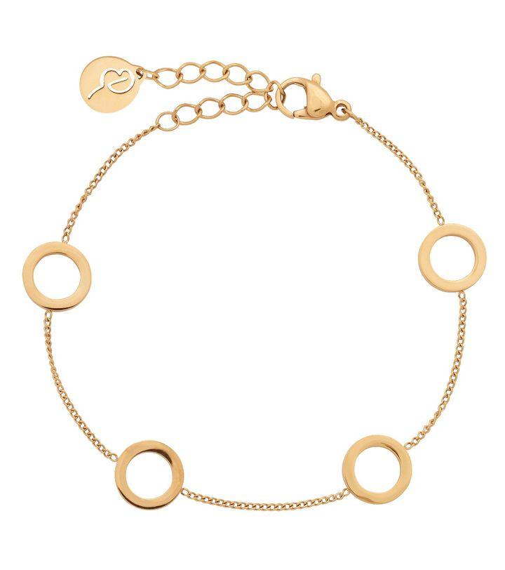 Circle Mini Bracelet Multi Gold