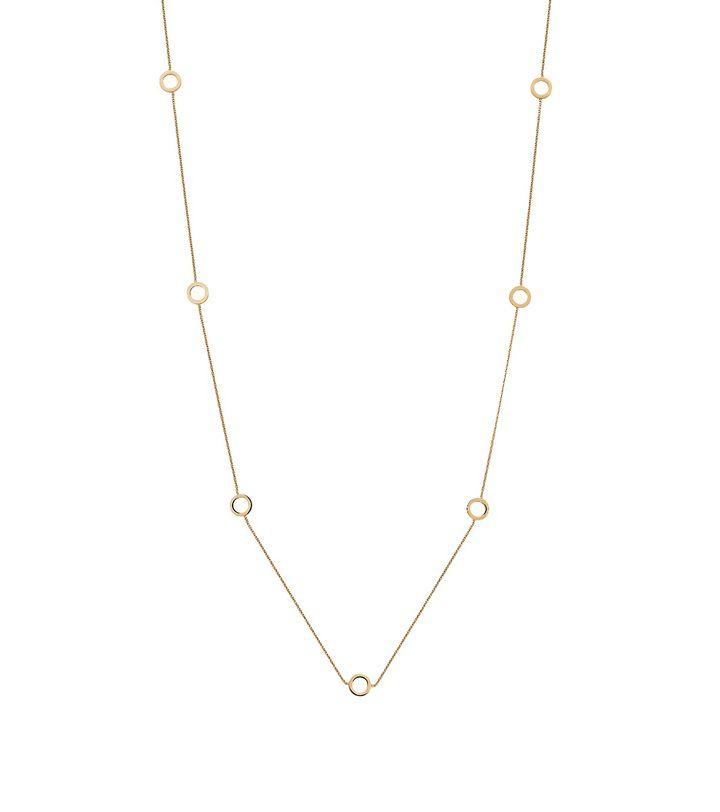 Circle Mini Necklace Multi Gold