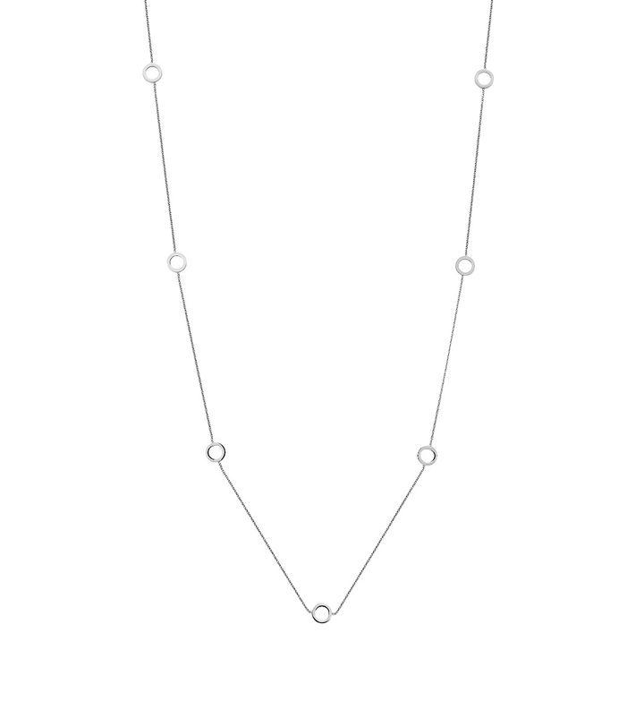 Circle Mini Necklace Multi Steel