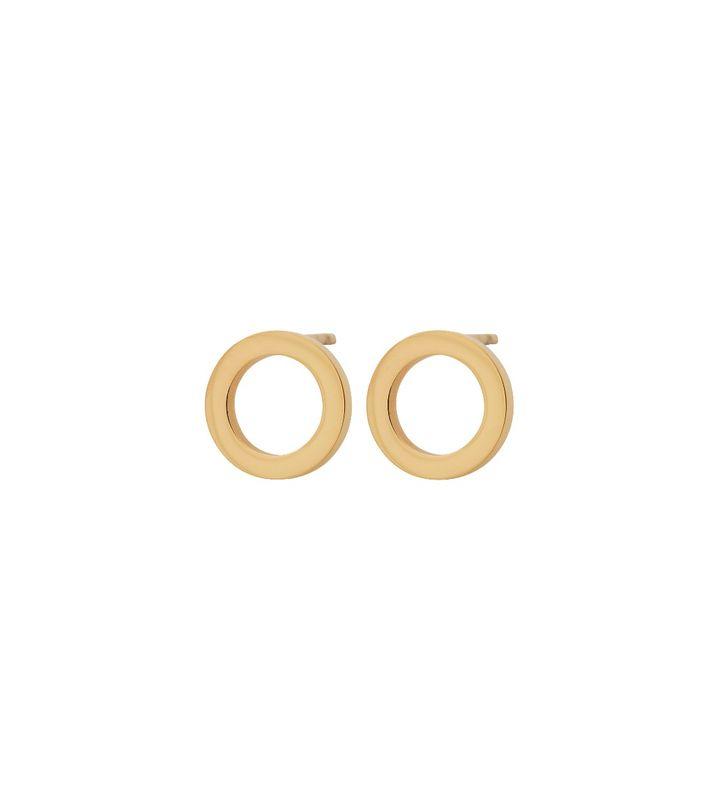 Circle Mini Studs Gold