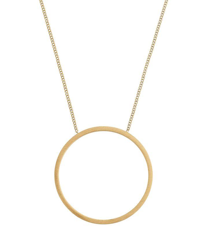 Circle Necklace Matt Gold