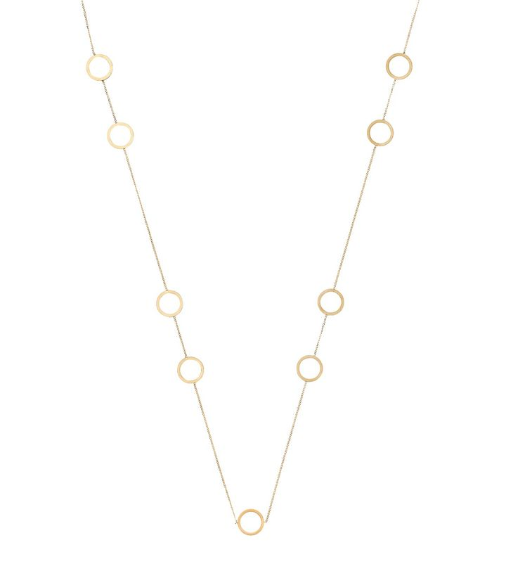 Circle Necklace Multi Matt Gold
