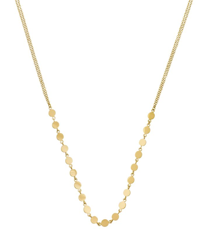Confetti Necklace Multi Gold
