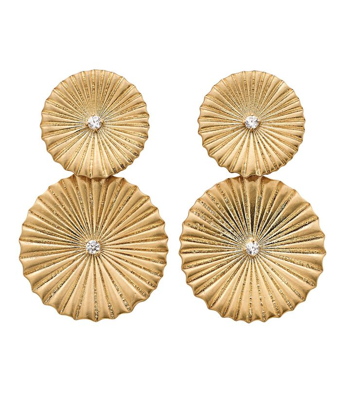 Crinkle Earrings Matt Gold