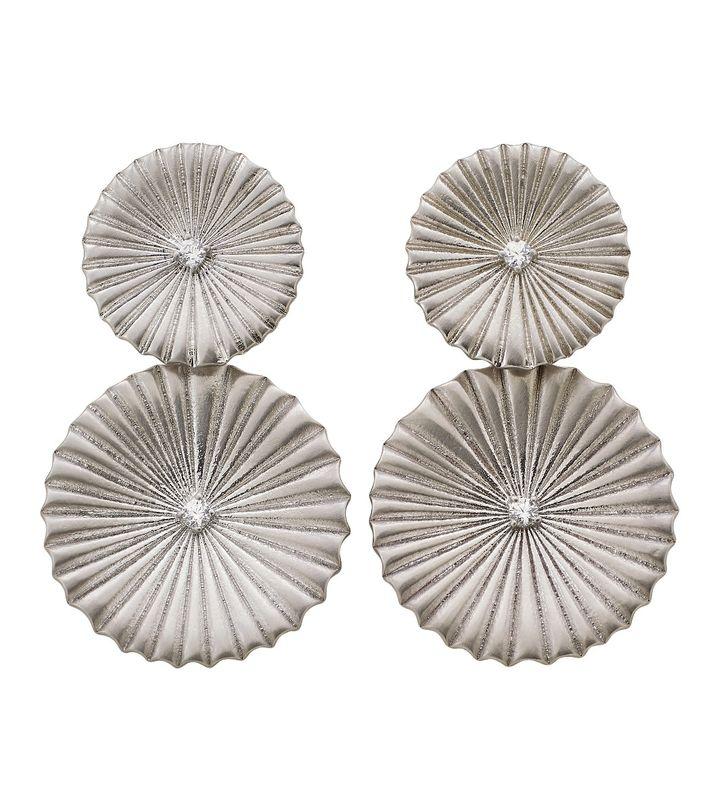 Crinkle Earrings Matt Steel