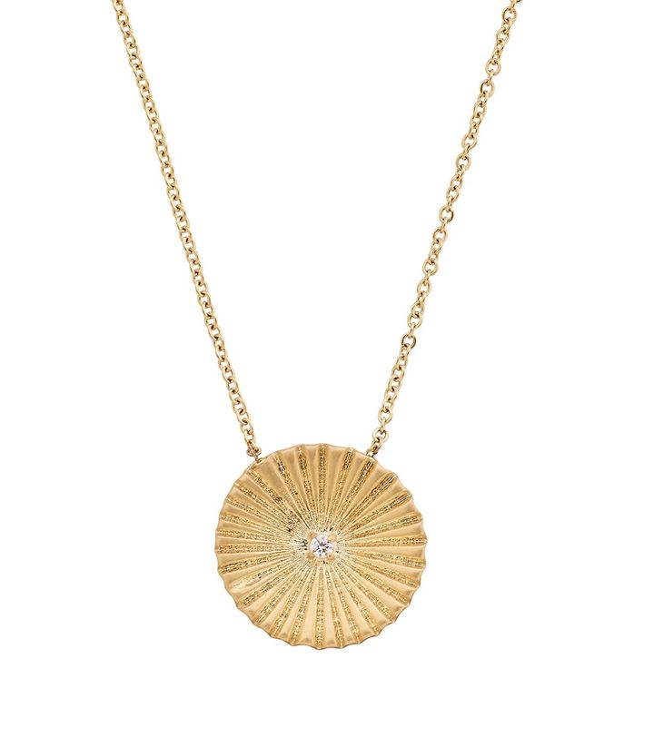 Crinkle Necklace Matt Gold