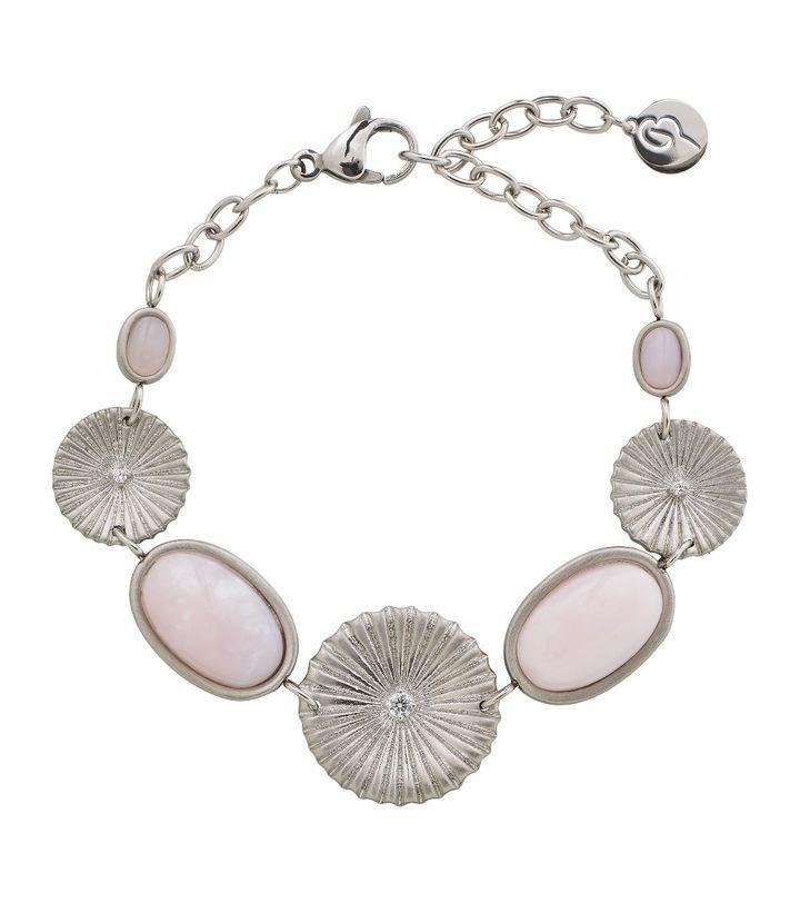 Crinkle Opal Bracelet Matt Steel