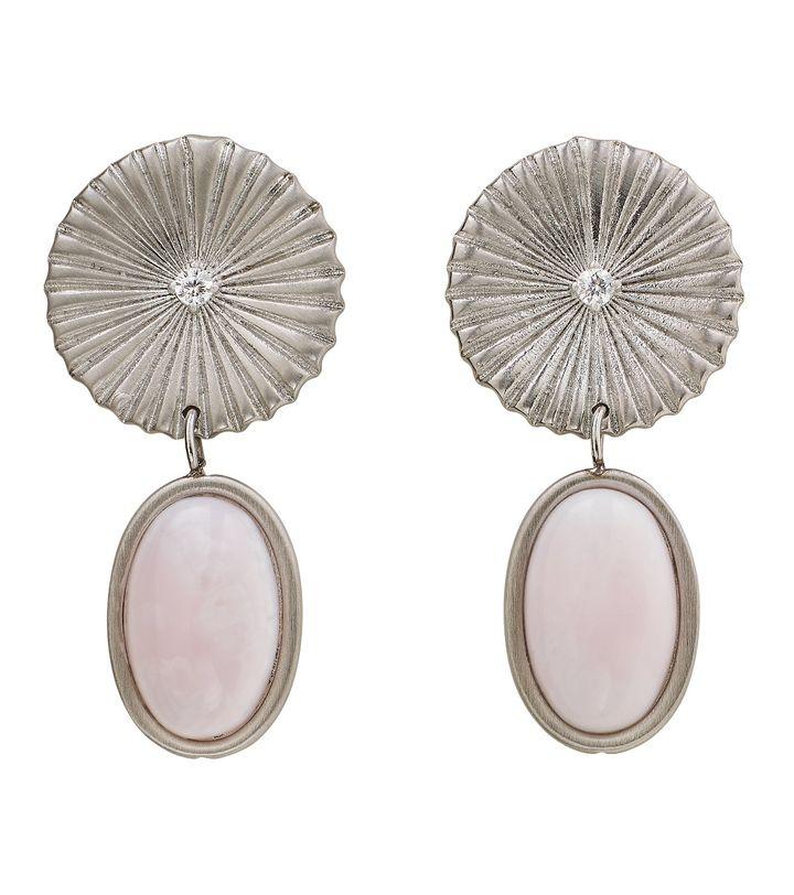 Crinkle Opal Earrings Matt Steel