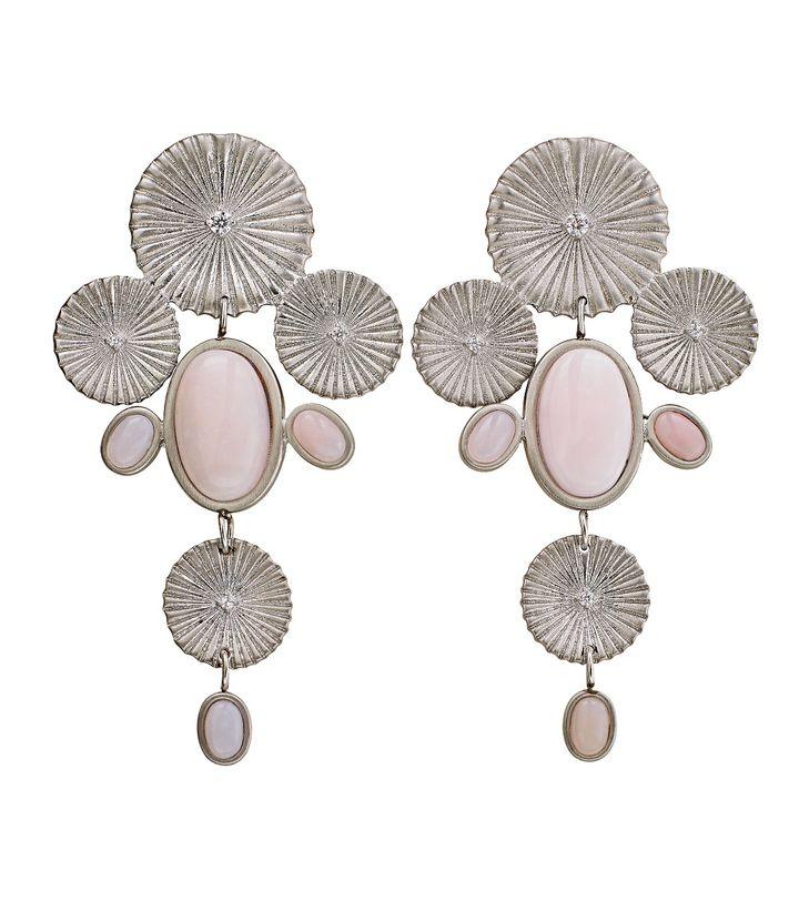 Crinkle Opal Maxi Earrings Matt Steel