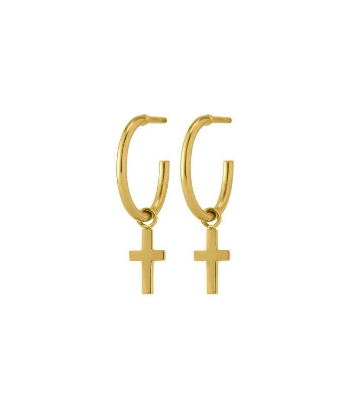 Cross Earrings Gold