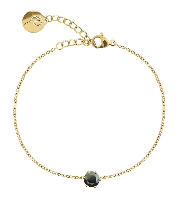 Crown Bracelet Gold Black