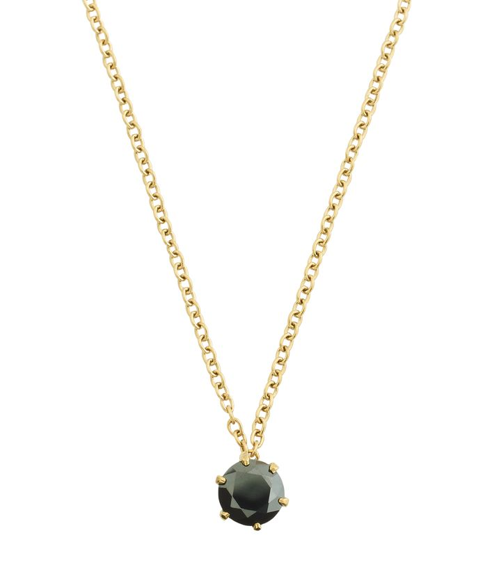 Crown Necklace Gold Black