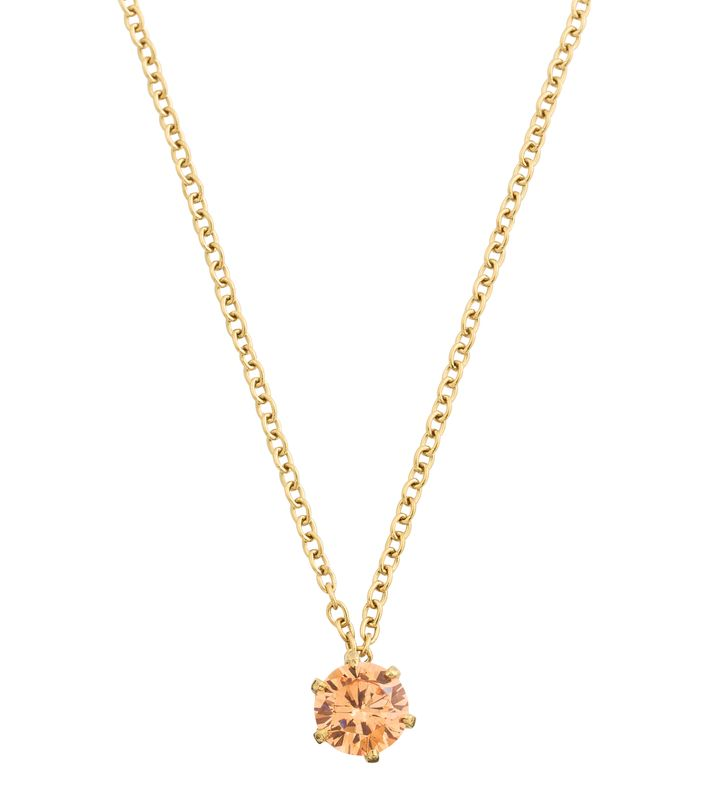 Crown Necklace Gold Champagne