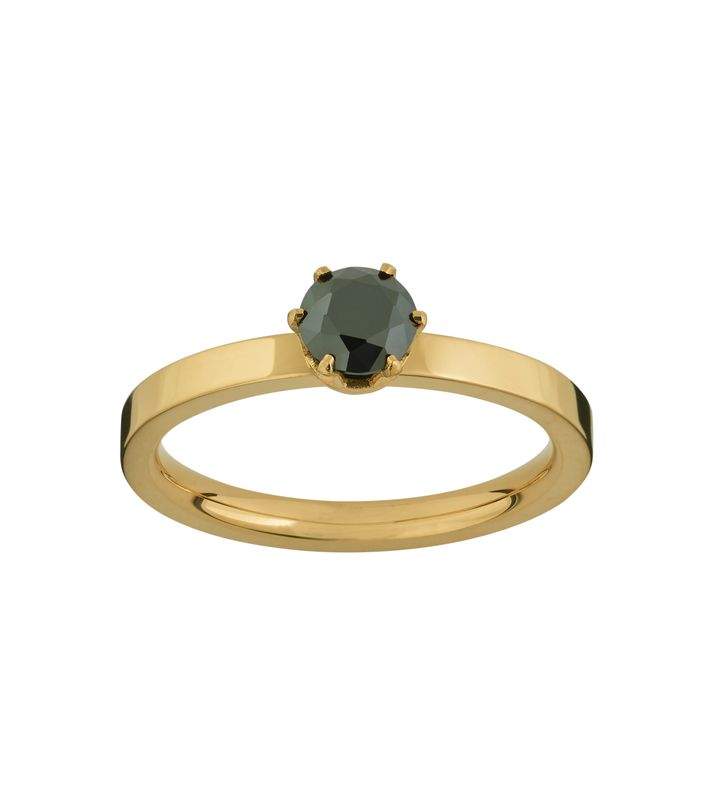Crown Ring Gold Black
