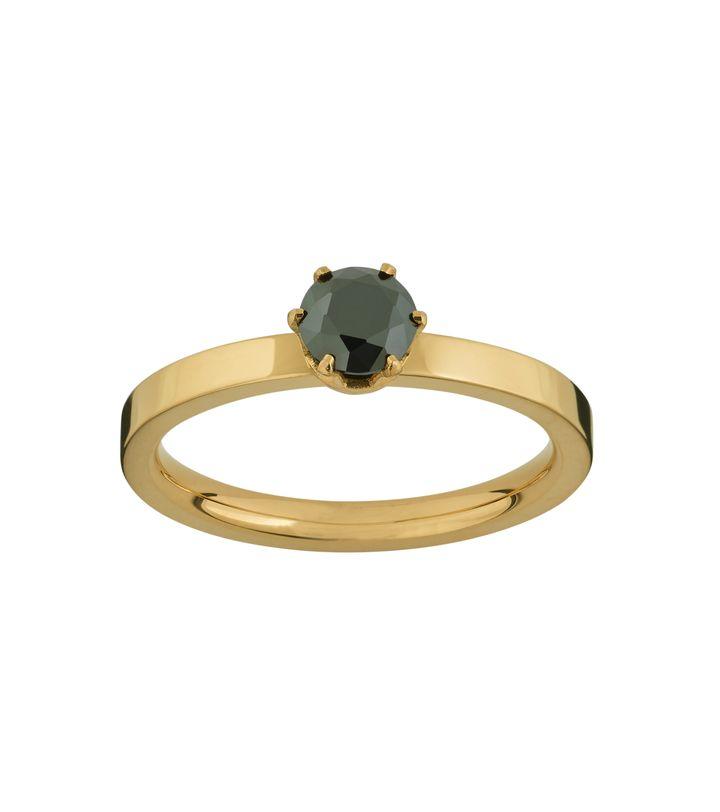Crown Ring Gold Black