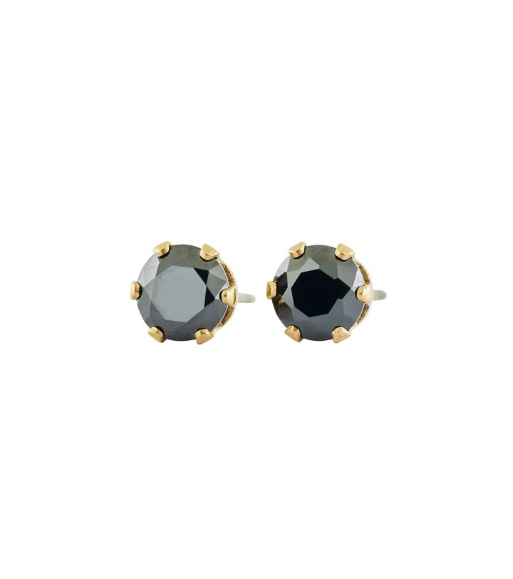 Crown Studs Gold Black
