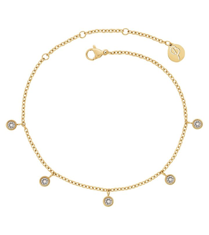 Dew Drop Anklet Gold