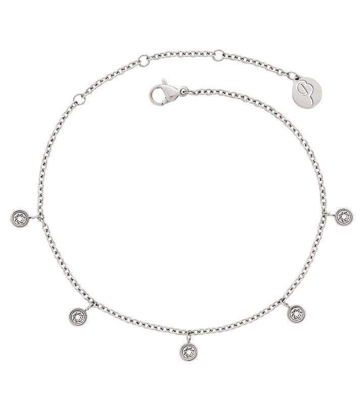 Dew Drop Anklet Steel