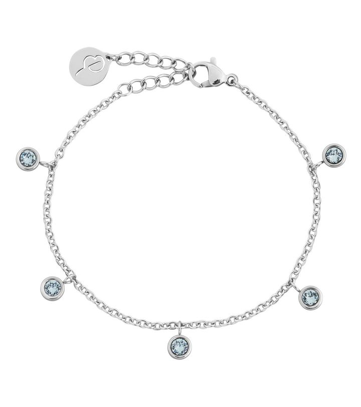 Dew Drop Bracelet Multi Aqua Steel