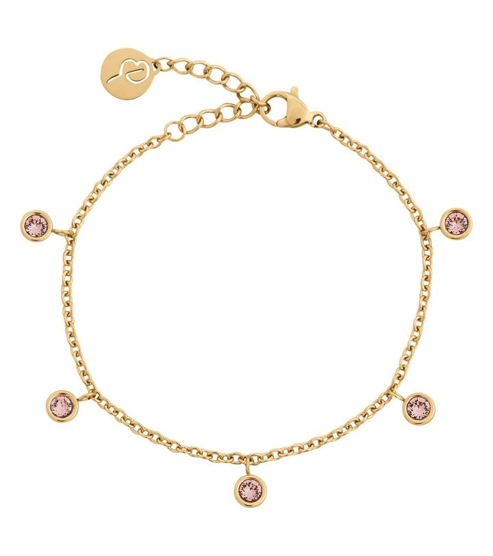 Dew Drop Bracelet Multi Blush Gold