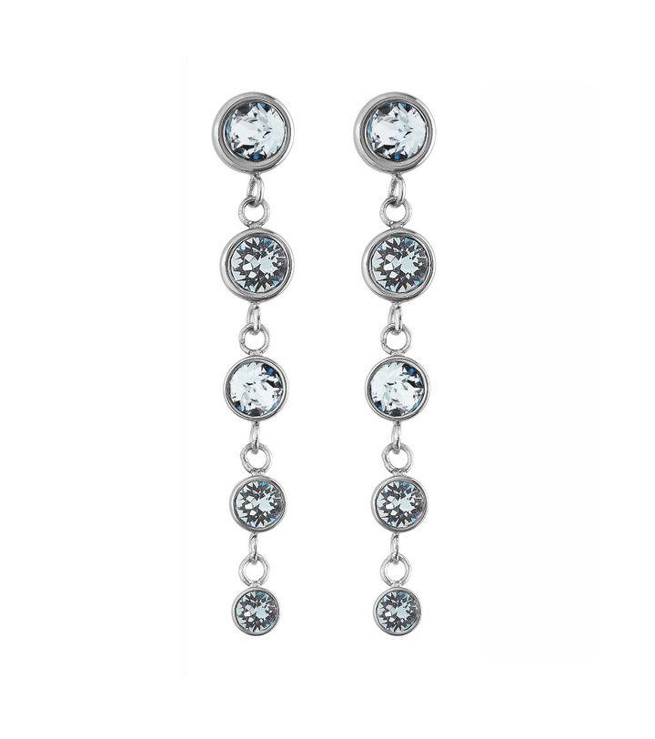 Dew Drop Earrings Multi Aqua Steel