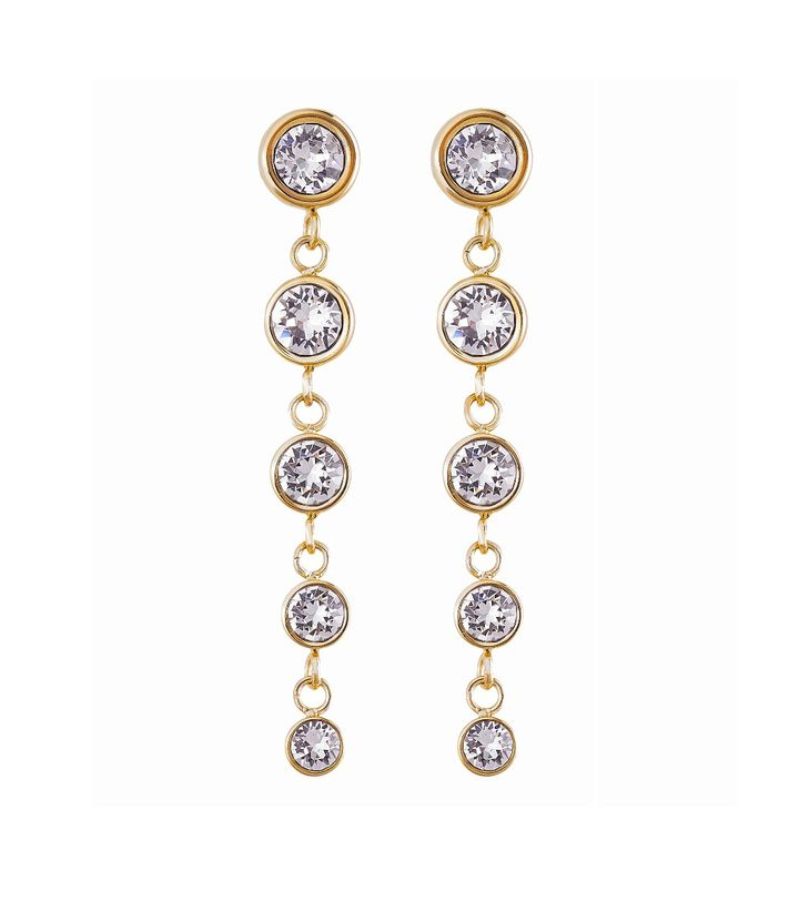 Dew Drop Earrings Multi Gold