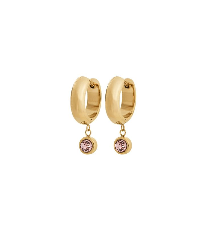 Dew Drop Hoops Blush Gold
