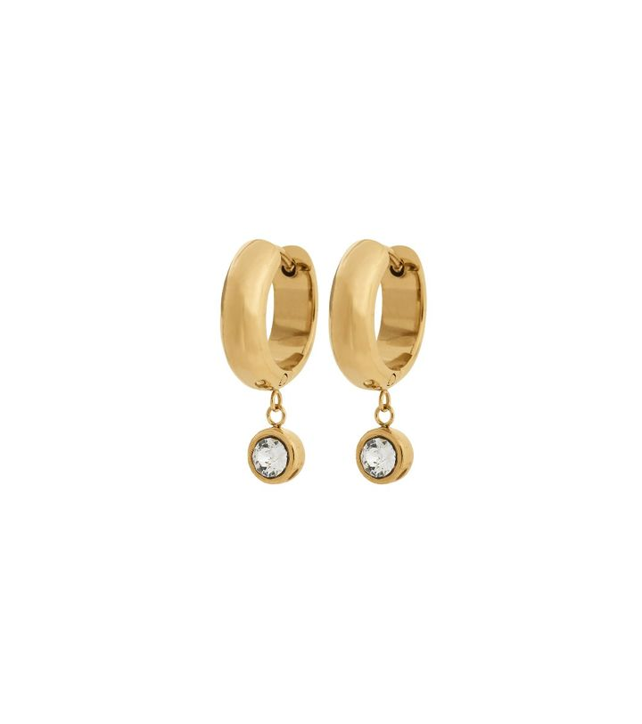 Dew Drop Hoops Gold