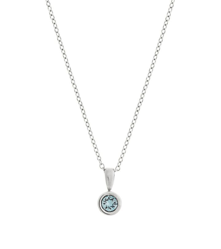 Dew Drop Necklace Aqua Steel