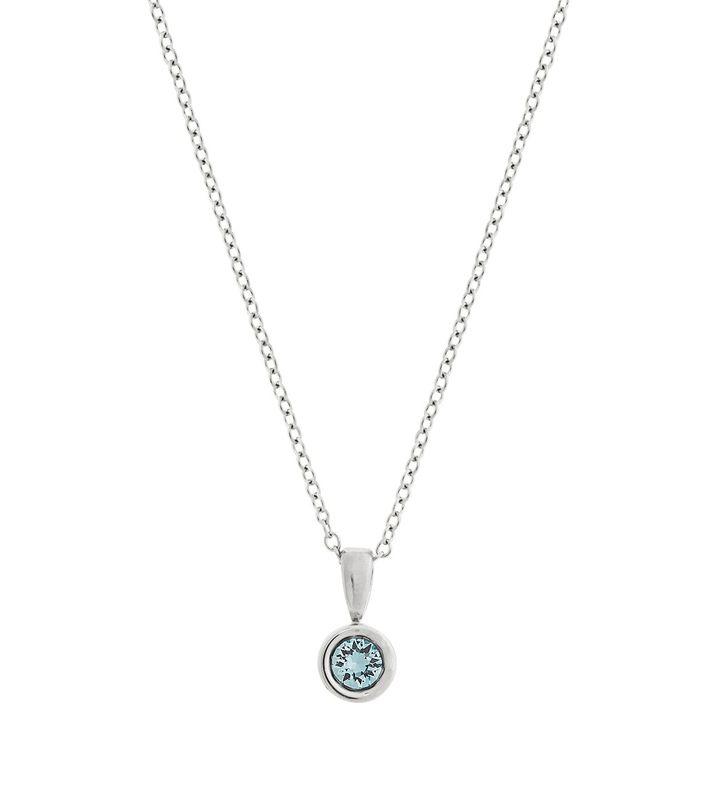 Dew Drop Necklace Aqua Steel