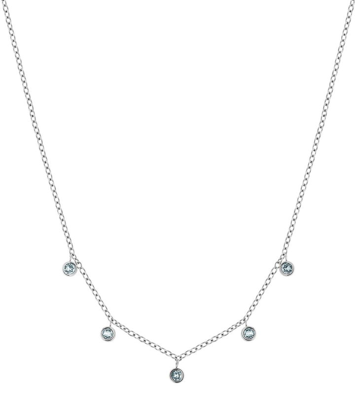 Dew Drop Necklace Multi Aqua Steel